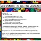 Conjunctions: The Sentence Connectors consists of: •	30 sentences* •	1 Coordinating Conjunction Poster •	1 Subordinating Conjunction Poster •	14 Co...