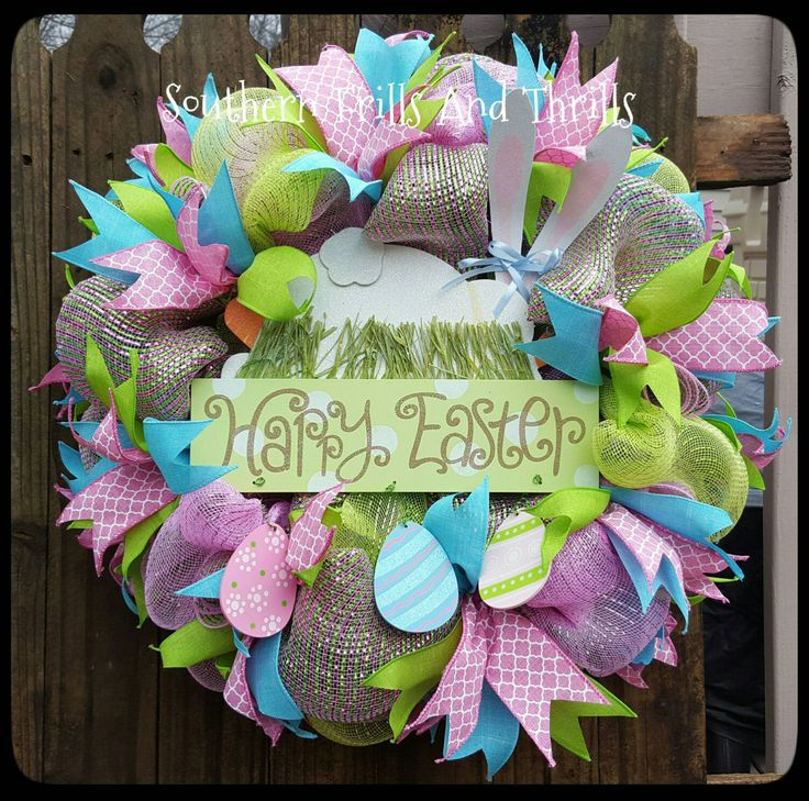 11 best Easter Wreaths images on Pinterest | Bunnies, Bunny rabbit ...