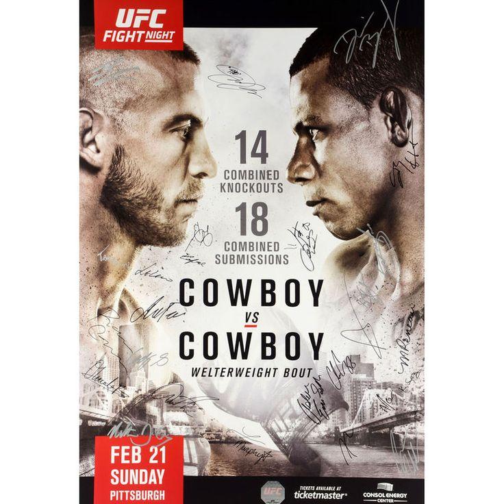 Fanatics Authentic UFC Fight Night 83 Cowboy Vs Autographed 27 X 39