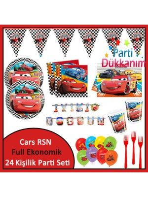 Cars RSN Ekonomik Süper Set (24 Kişilik)