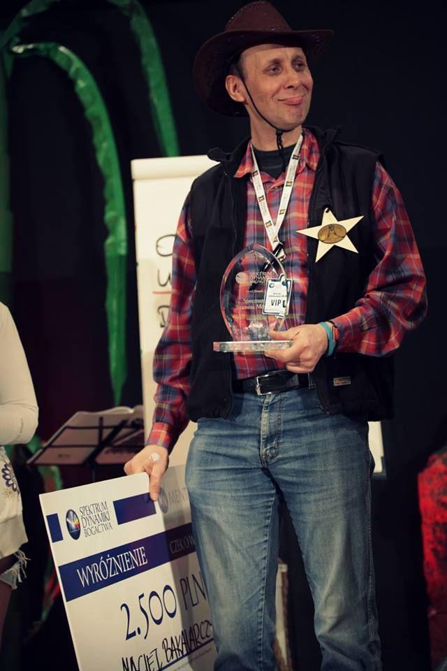 Maciej Bakalarczyk odebrał nagrodę Spectrum Stamina Master