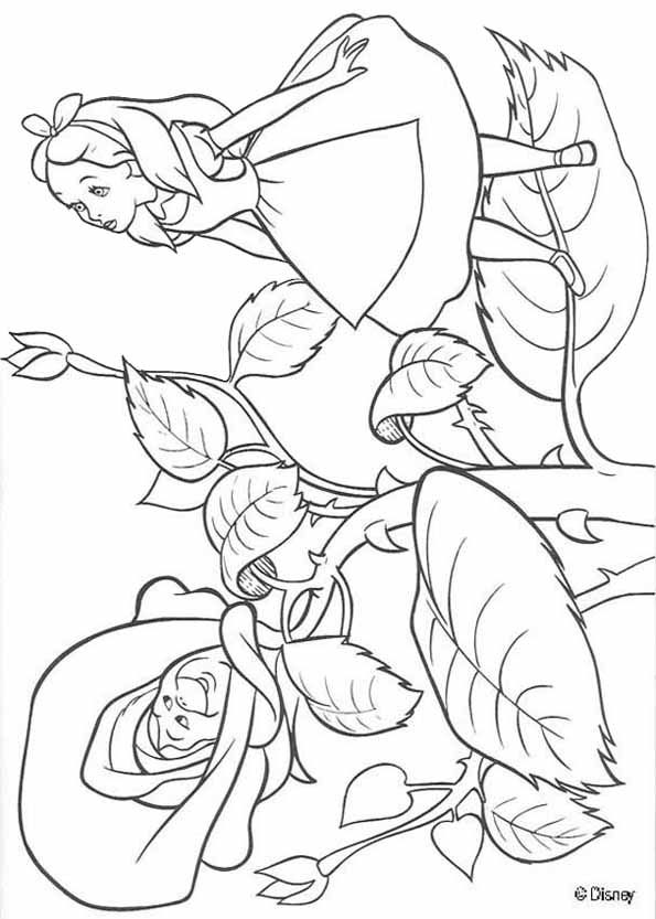 alice in wonderland colouring page - Childrens Colouring