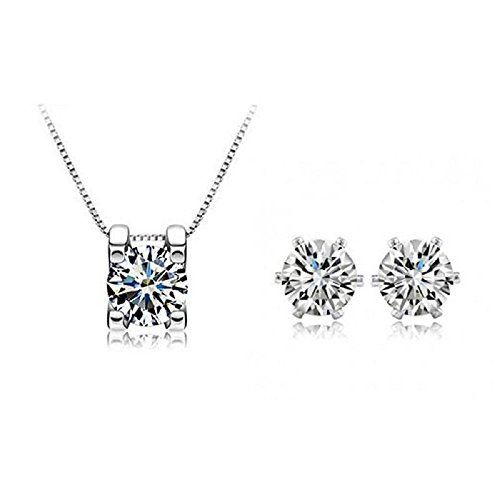 18k WHITE GOLD Plated Swiss Zircon Necklace And Earrings Set Eight Heart&Arrows Series Clear Crystal Classic Bridal Jewellery, http://www.amazon.co.uk/dp/B00XPTTWIY/ref=cm_sw_r_pi_awdl_BRX5vb0JA2T0N
