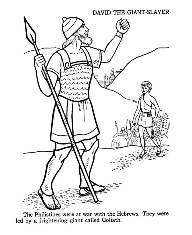17 best images about david and goliath on pinterest for King david coloring pages free