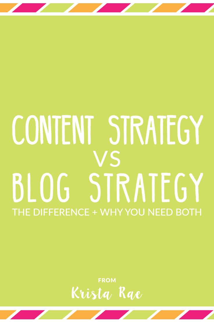 I'm sure we can all agree that content strategy and blog strategy are important parts of our business. But, wait, are those the same thing?