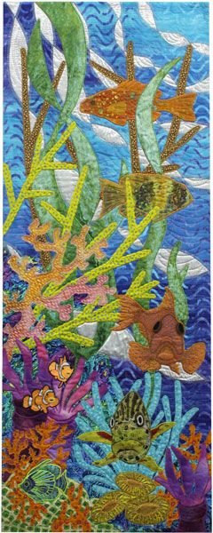 :: Living Treasure by Julie Harding:: Applique quilt. The lower fish facing the viewer, rather than the usual side view, is masterful!