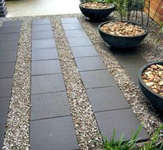 zen garden river rock square pavers - Google Search