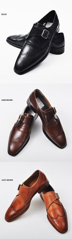 Lux Dandy Wingtip Monk Strap Shoes - Love every color