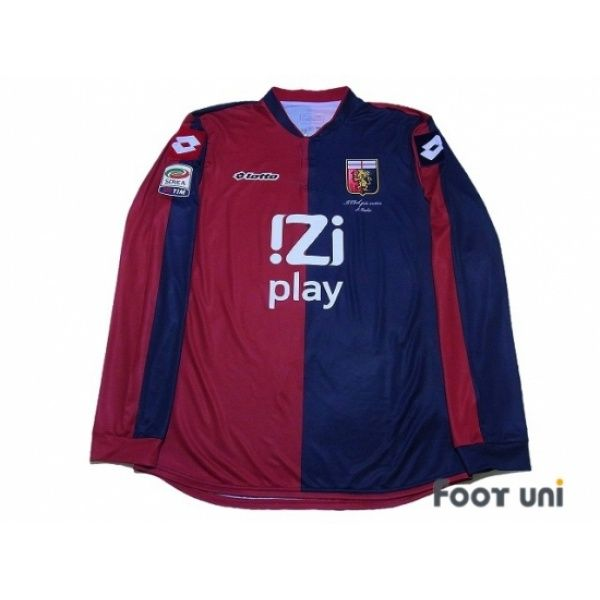 Photo1: Genoa 2013-2014 Home L/S Shirt #11 Gilardino Serie A Tim Patch/Badge lotto- Football Shirts,Soccer Jerseys,Vintage Classic Retro - Online Store From Footuni Japan