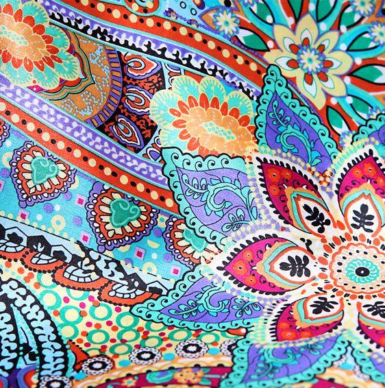 Bohemian Patterns | Orange Silk Scarves In Modern Bohemia ...