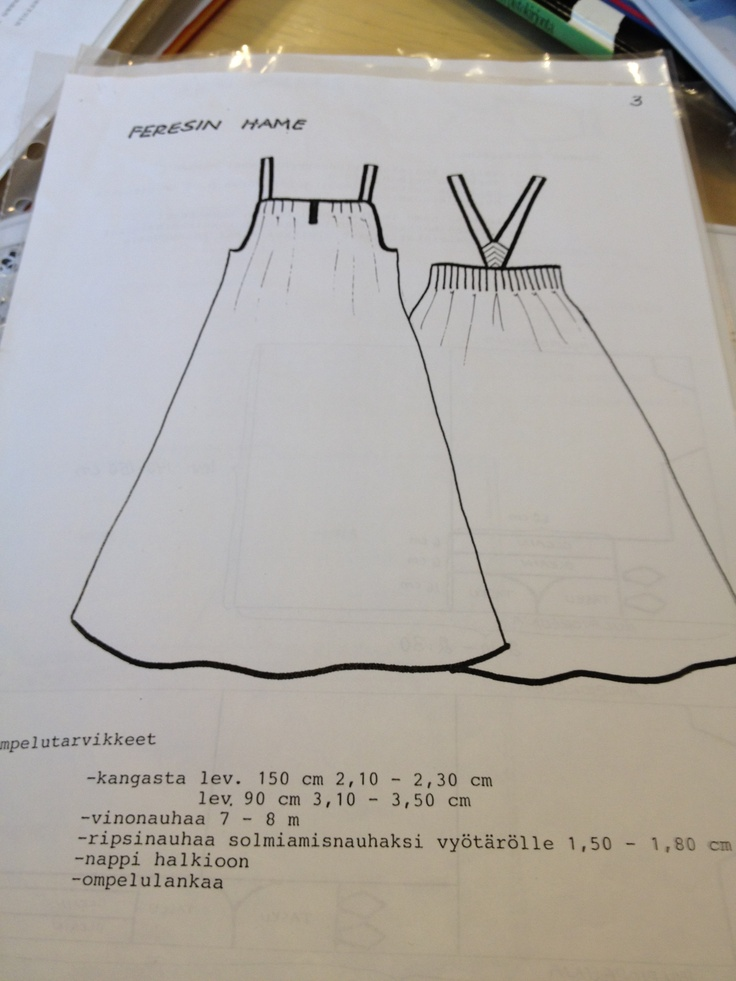 Pattern for the dress