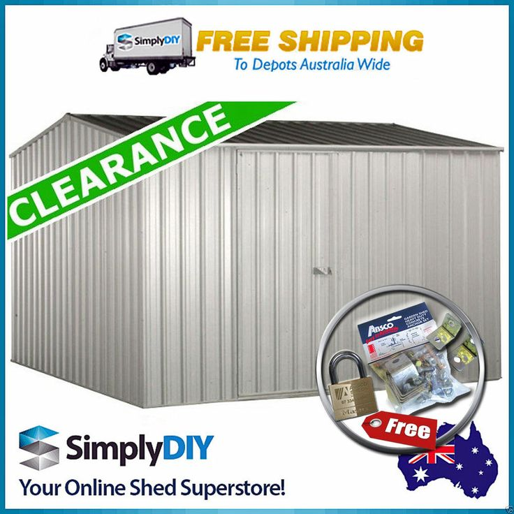 absco premier garden shed 3x3 zincalume single door 3m x 3m gable roof 30yr wrty