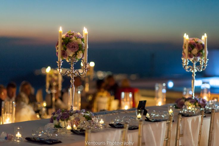 Gorgeous night time shot from the styling of the wedding of Victoria and George!
