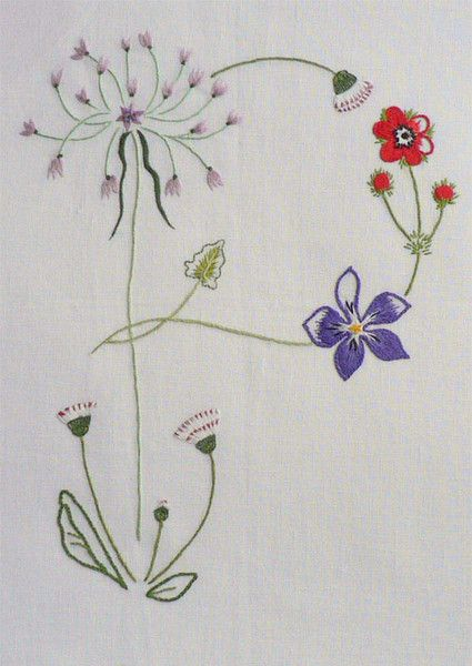 Field flowers alphabet - P – French Needlework Kits, Cross Stitch, Embroidery, Sophie Digard – The French Needle