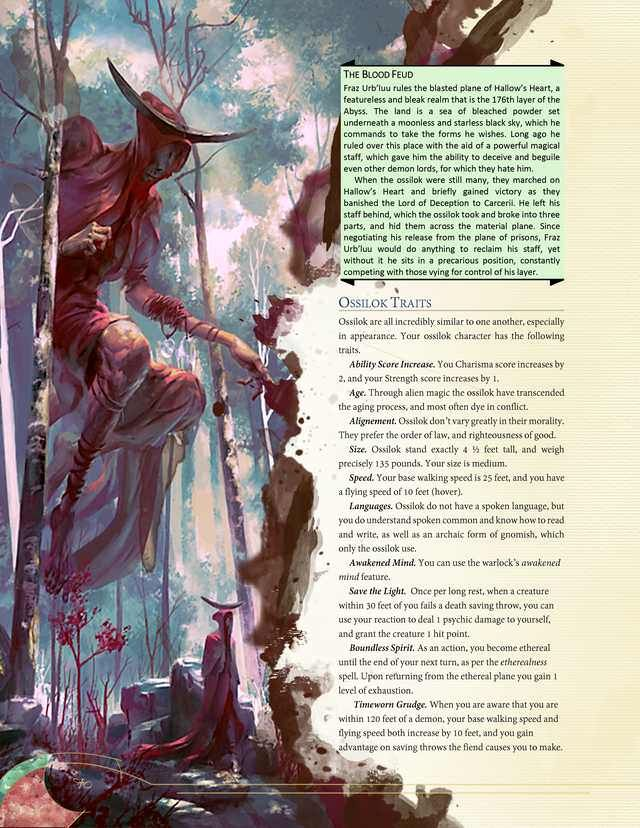 DnD (D&D) homebrew races and classes I've collected  em 2019