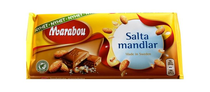Marabou Salta Mandlar is the newest addition to the chocolate factory.