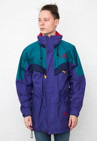 4b53330760 HELLY HANSEN 90S VINTAGE PURPLE GREEN JACKET / COAT   Dope Board in 2019    Jackets, Green jacket, Vintage jacket