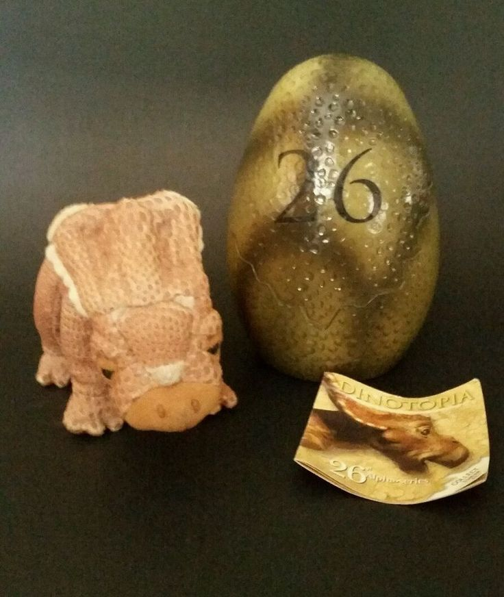 2002 Dinotopia Hallmark Alpha Series #26 Zipforth Plush Dinosaur Toy With Egg