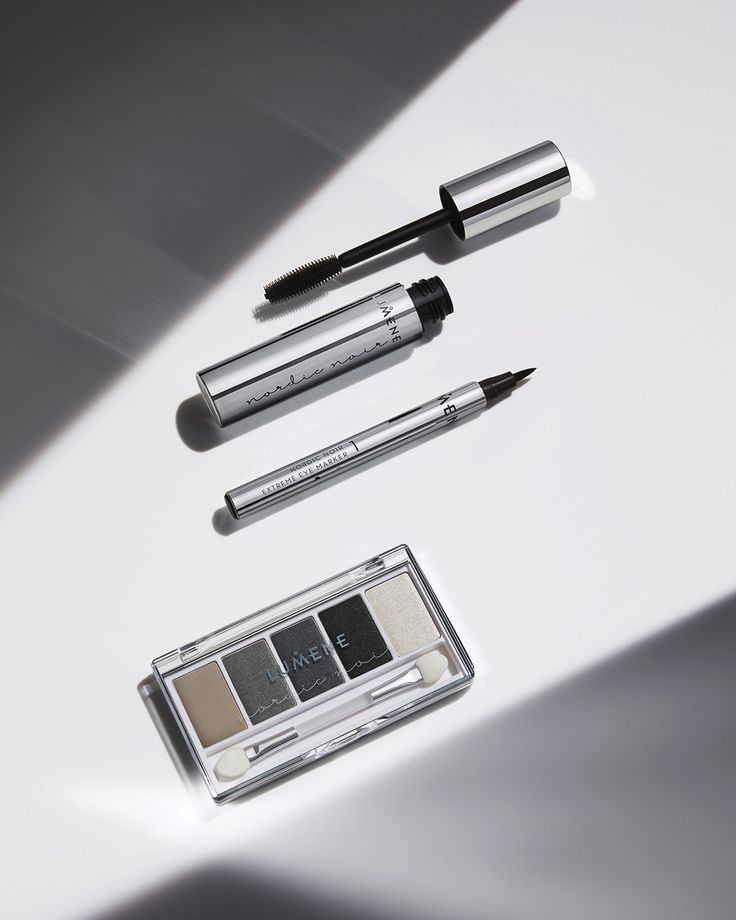Lumene Nordic Noir eyemakeup collection 2017. Bring out the dark side of beauty with these premium formulas and mysterious shades.