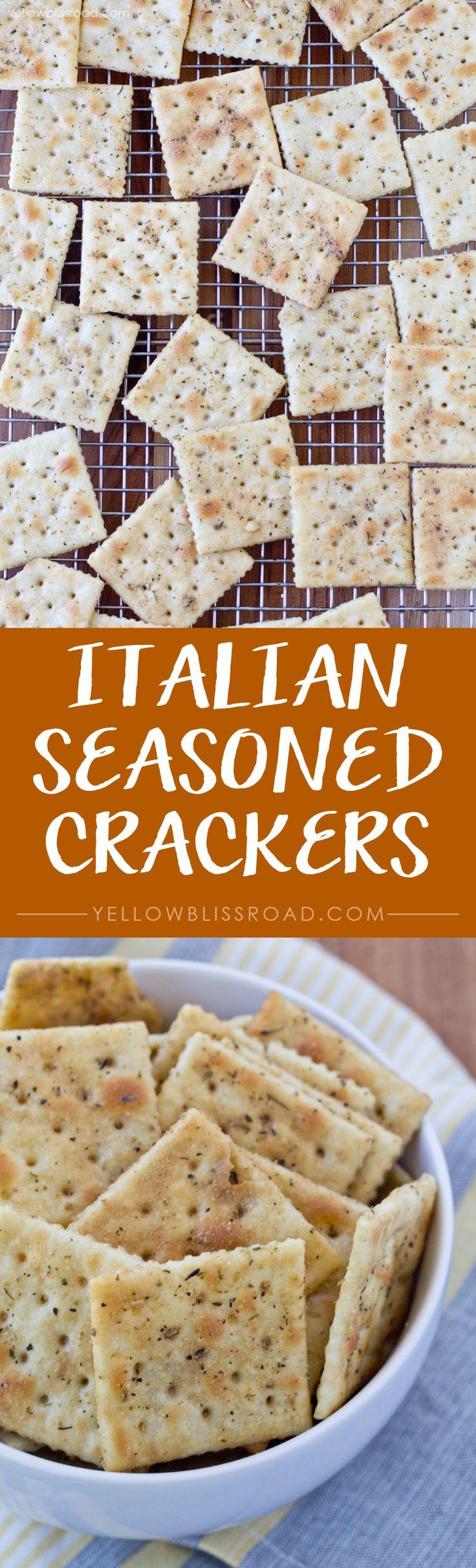 Italian Seasoned Crackers - Easy to make and easy to customize!