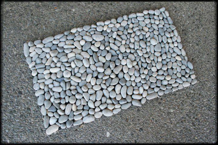Stone Door Mat... Community Craft Group, Christchurch New Zealand.