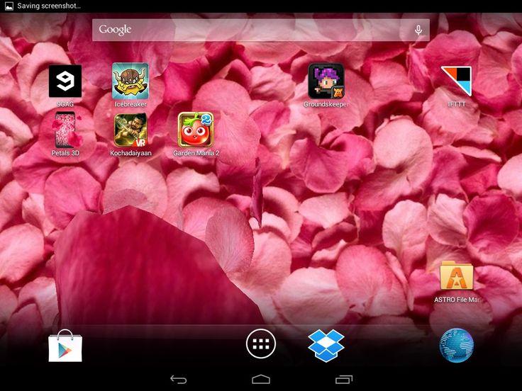 Petals 3D Live Wallpaper for HTC Desire 816 \u2013 Free download soft