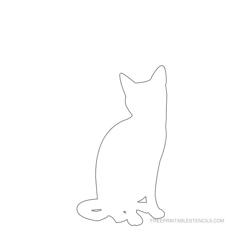 This is a photo of Ambitious Cat Template Printable