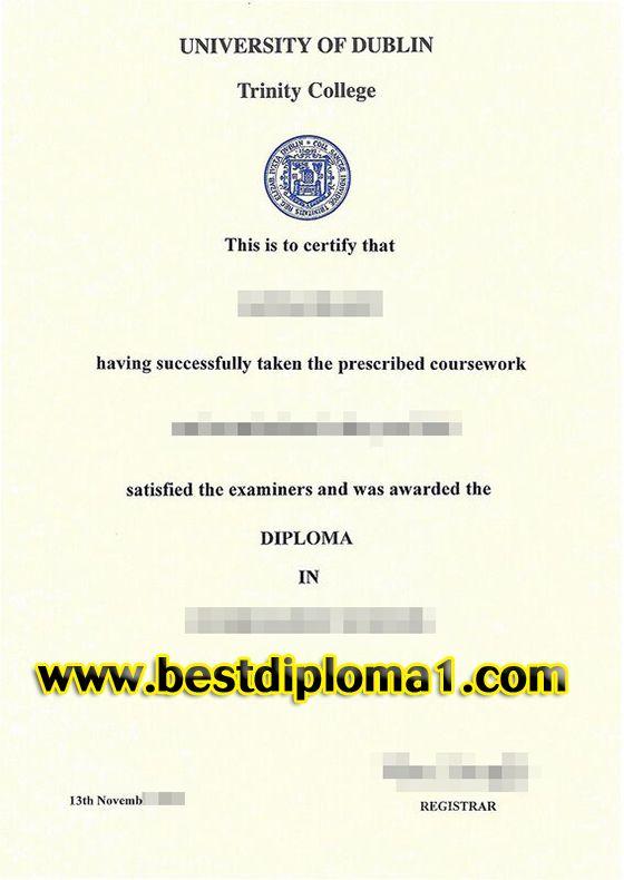 University of Dublin Trinity College fake degree sample,buy - degree certificate template