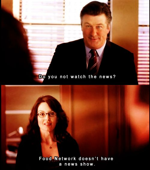 When Liz was up on current events about as much as you are. | 17 Times You Realized You Were Liz Lemon And Wished You Weren't