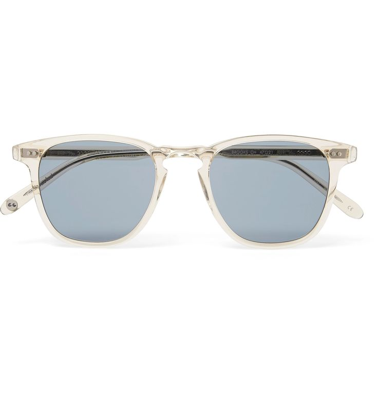<a href='http://www.mrporter.com/mens/Designers/Garrett_Leight_California_Optical'>Garrett Leight California Optical</a>'s 'Brooks 47' sunglasses date back to the label's debut collection, and this pair is freshly updated in champagne-coloured acetate. The universally flattering D-frame shape makes them an enduring choice, while the blue polarised lenses ensure you'll enjoy clear, crisp vision no matter the sun's s...