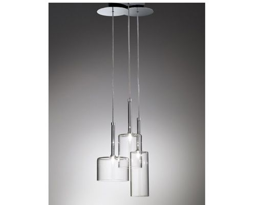 Description: Complete collection of glass lamps ideal for restaurant or bar setting Materials: Glass and chrome metal c/w transformer Dimensions: SP Spill 3 [...]?.. Bathroom