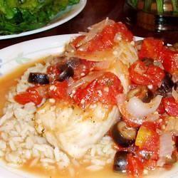 Cabillaud mijoté à l'italienne @ http://allrecipes.fr
