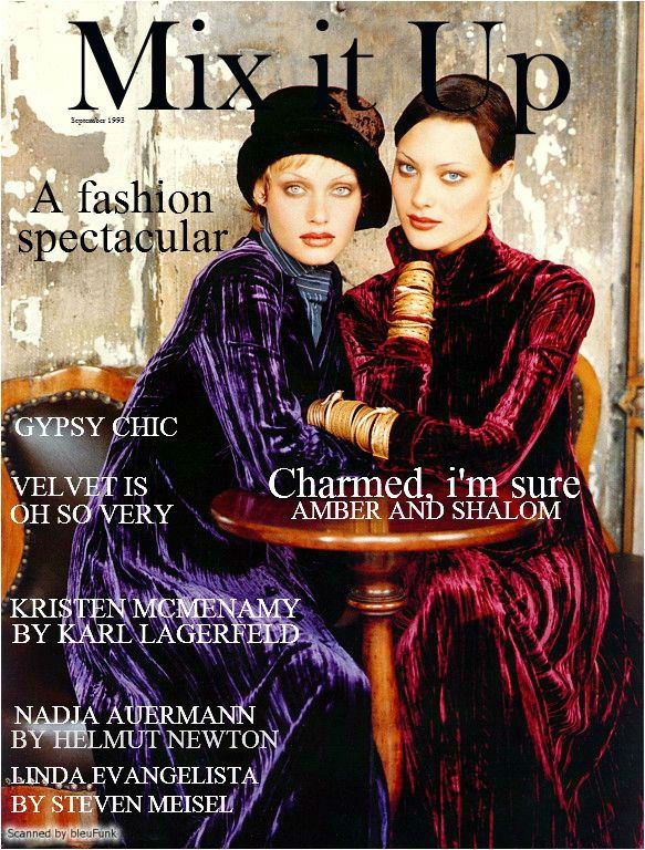Amber Valletta and Shalom Harlow by Patrick Demarchelier