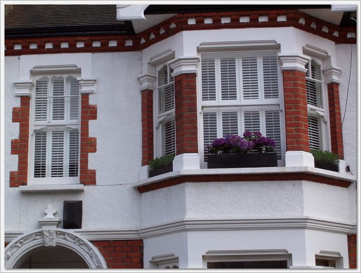 1000 images about bay window shutters on pinterest for What to put in front of a bay window