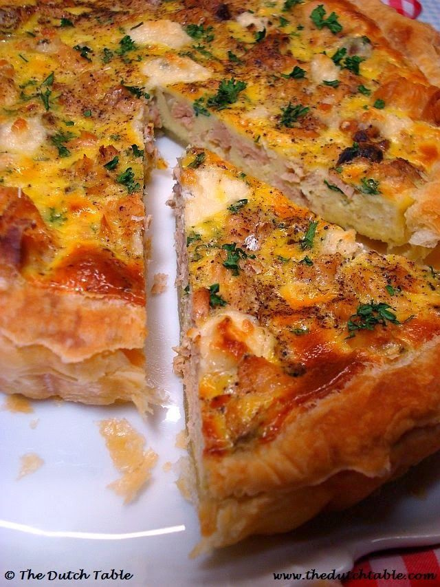 The Dutch Table: Zalmtaart (Dutch Salmon Pie)