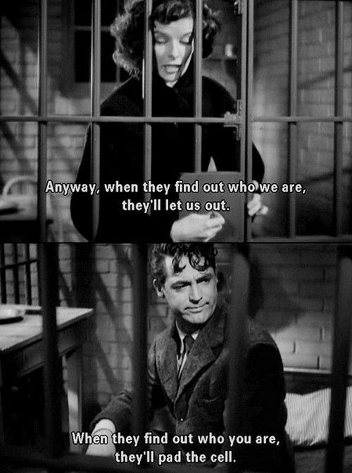 "Katherine Hepburn & Cary Grant in ""Bringing Up Baby"" (1938)"
