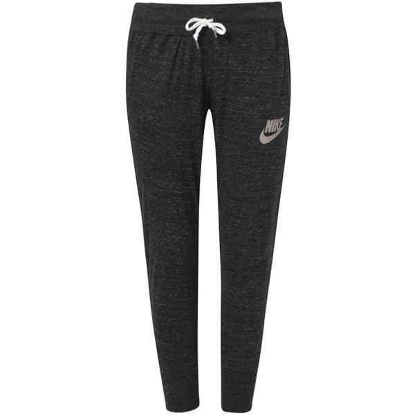 nike sportswear gym vintage tracksuit bottoms sail liked on polyvore featuring pantalons pour femmespantalon