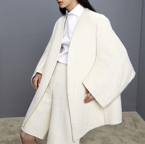 Oversized Cream Coat