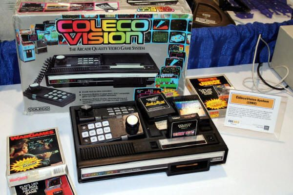 ColecoVision.  This was the gaming system that brought the arcade experience home. Strangely, the ColecoVision version had Donkey Kong hurling barrels from the right side of the screen, while the original arcade version had him on the left.Consoles Libraries, Colecovi Games, Videos Games, Coleco Vision, Games Consoles, Coleco Colecovi, Soooo 80S, 80S Ears, Colecovision Games