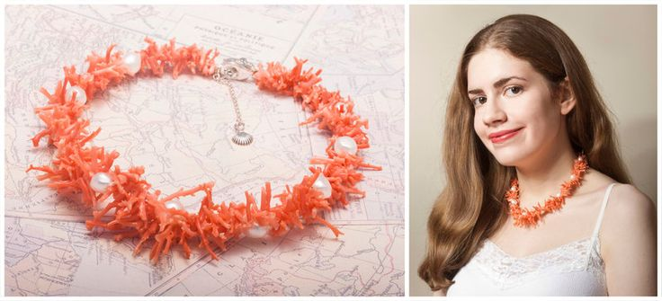 About a month ago I picked up an old (or 'vintage'as people like to say)coral necklace second-hand from someone having a clear-out. I only paid a few pounds for it and assumed it was ju...