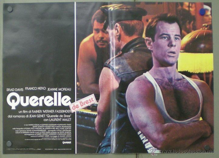 Cine: QM64 QUERELLE FASSBINDER BRAD DAVIS GAY CULT SET 8 POSTERS ORIGINAL ITALIANO 47X68 - Foto 3 - 45315208