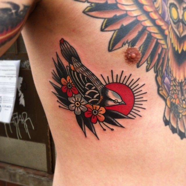 Nick Corbett as featured on www.swallowsndaggers.com #tattoo #tattoos #bird