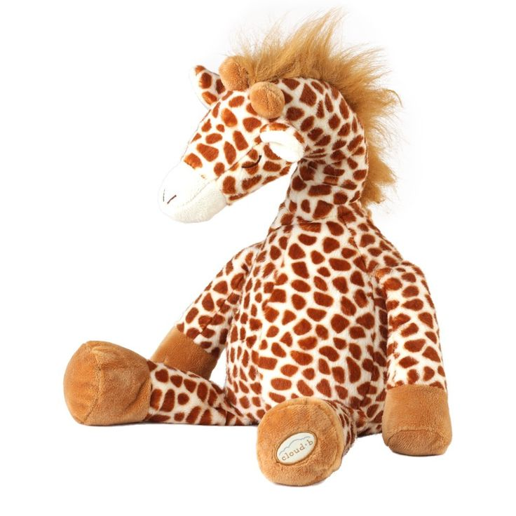 Cloud B Gentle Giraffe,Deze giraffe van Cloud B is een variant van de slaap schaap. Kenmerken: - Speelt 4 rustgevende geluiden: - Mama's hartslag - Frisse regenbuien - Oceaangolven - Walvisliedjes  Twee functies in 1 product Knuffeldier en speelgoed  Kalmeert uw baby in slaap met rustgevende natuurgeluiden Pluche knuffel met muziekdoos Twee slaaptimeropties: schakelt automatisch uit na 23 of 45 minuten.