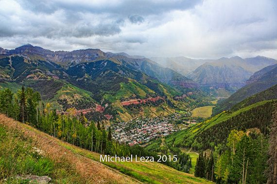 Stretched Canvas - Summer Storm over the Valley - Telluride Colorado