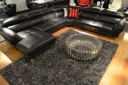 Leather Lounge with sofa and corner configurations.