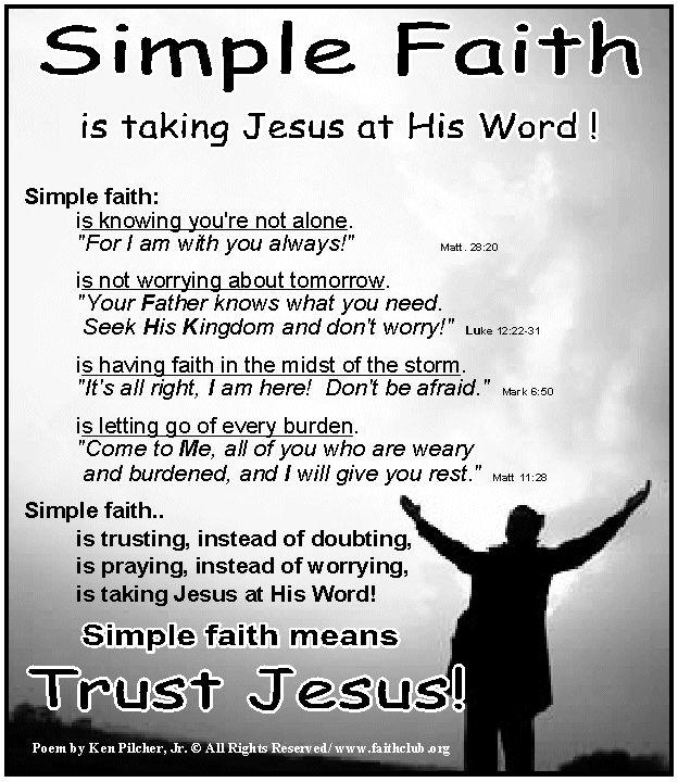 faith means trust trust - 624×720