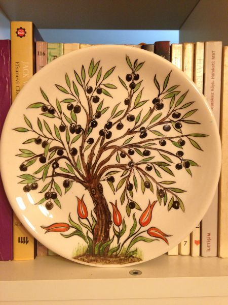 Çini Zeytin Ağacı Tabak 2 my work