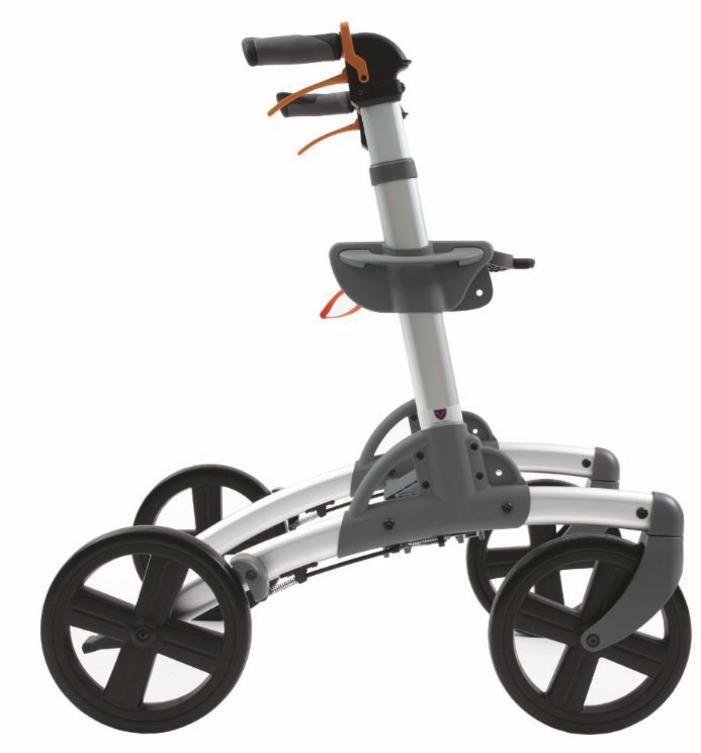 Smart Patrol Rollator Walker With 10 Inch Wheels For Rough Terrain Mobility Walkers Walker