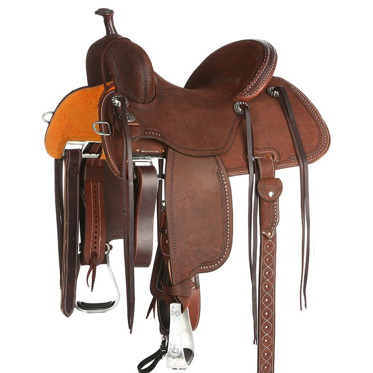 Martin Crown C Double Border Roughout Barrel Saddle Item # NRS-97CRO