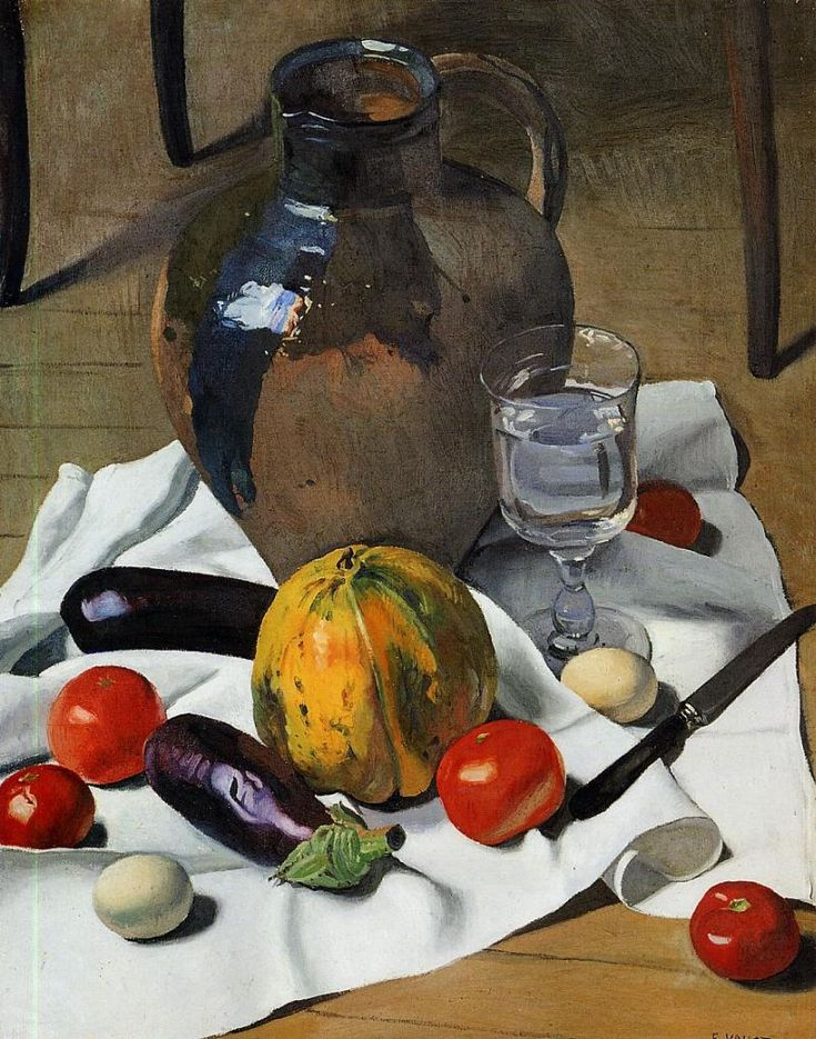 Still Life with Large Earthenware Jug by Felix Vallotton